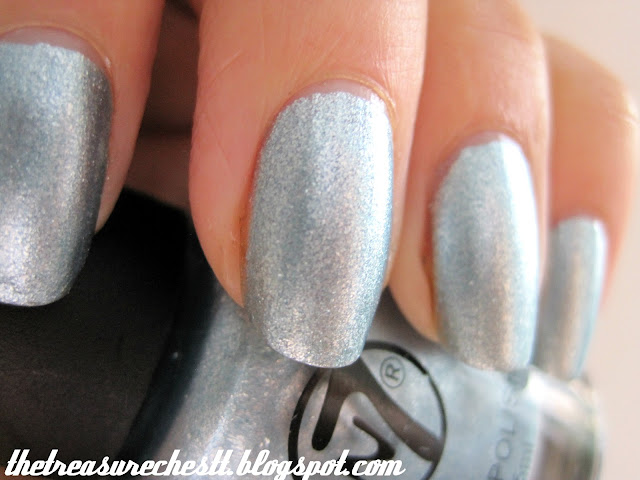 w7 blue mirror nail polish swatch
