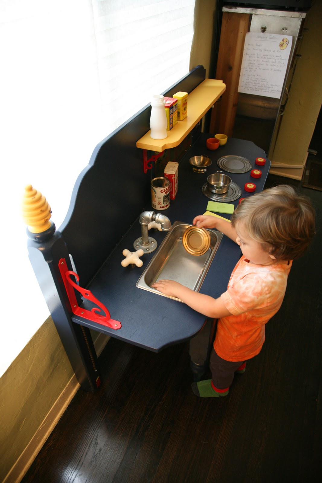 Play Kitchen From Old Furniture The Brooding Hen A Play Kitchen Made From An Old Bed