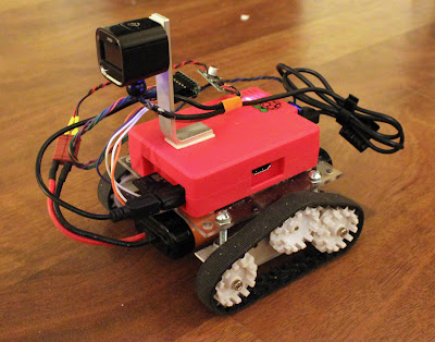 Raspberry Pi robot telepresence rover