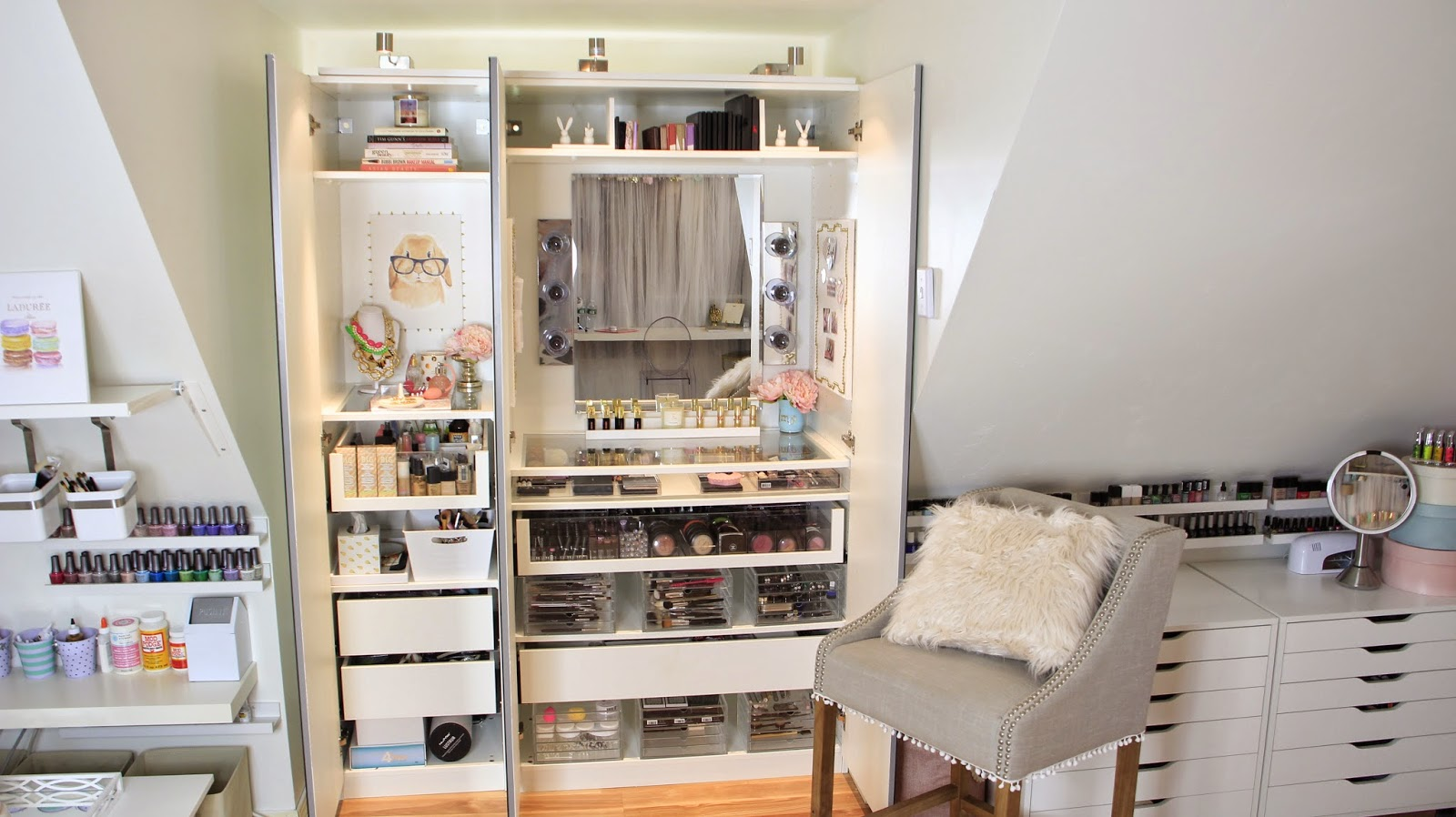 Bedroom storage ideas ikea - Cheap Dose Of Lisa Pullano My Makeup Tour U Storage Ideas With Ikea Bedroom Storage Ideas