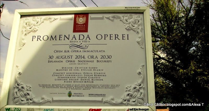"Opera House. Invitation. ""Promenada Operei"" ""OPEN AIR OPERA IMMACULATA"" 30 AUGUST 2014, 20.30."