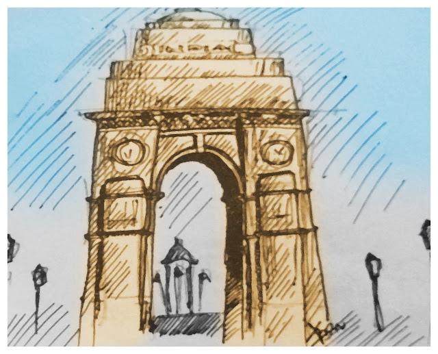 India Gate Sketch