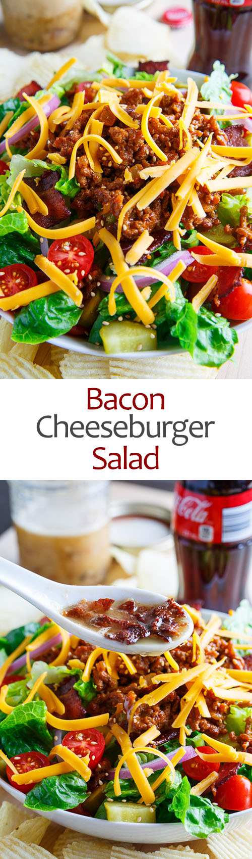 Bacon Cheeseburger Salad on Closet Cooking