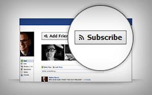 Add a Subscribe Button to your Facebook Profile, Facebook