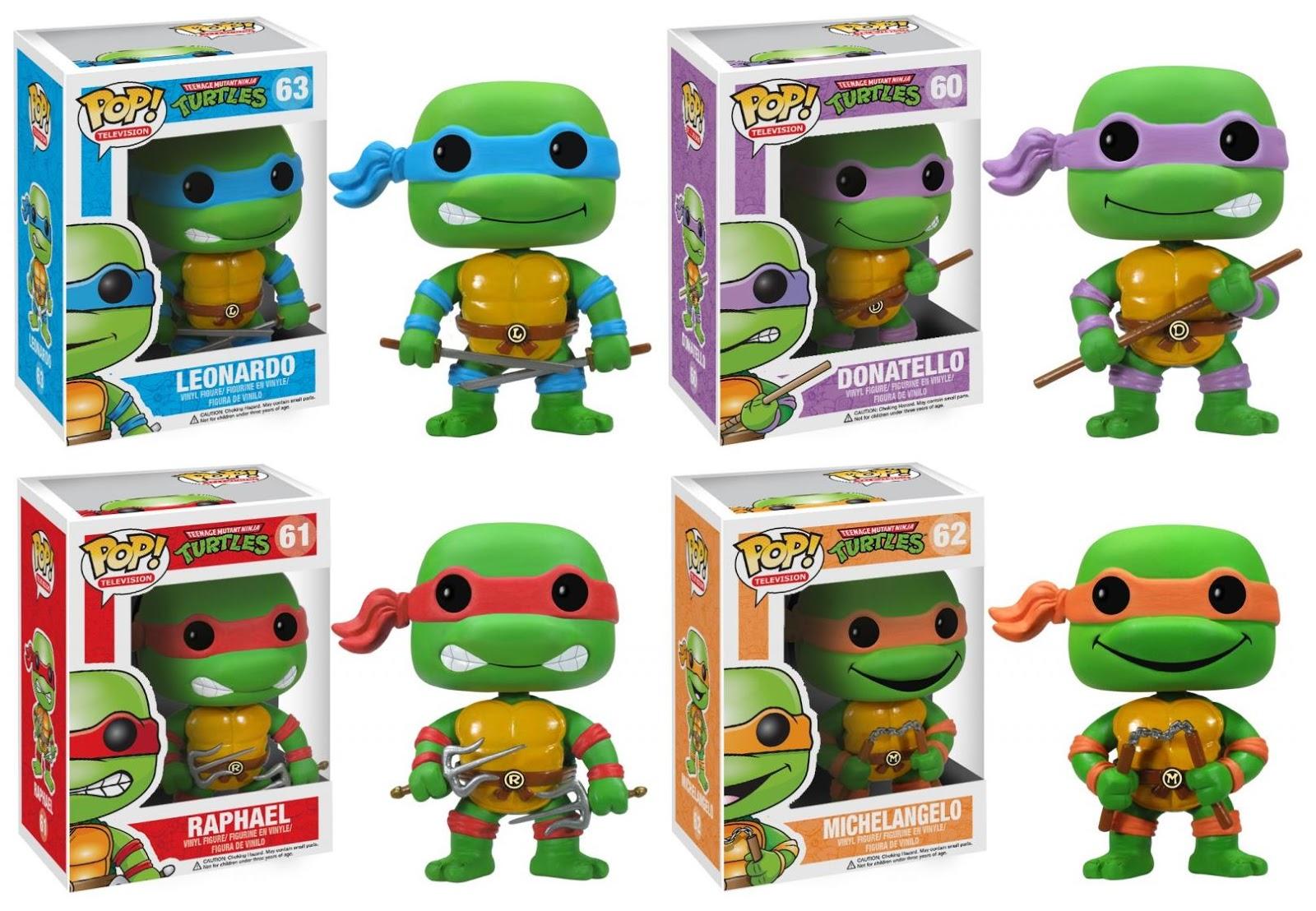 Teenage mutant ninja turtles pop vinyl figures by funko leonardo