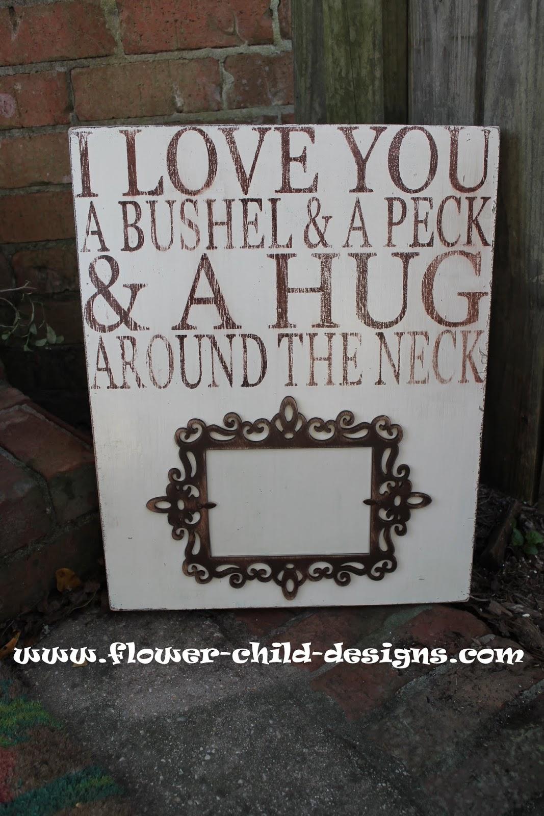 Flower Child Designs: Typography Art