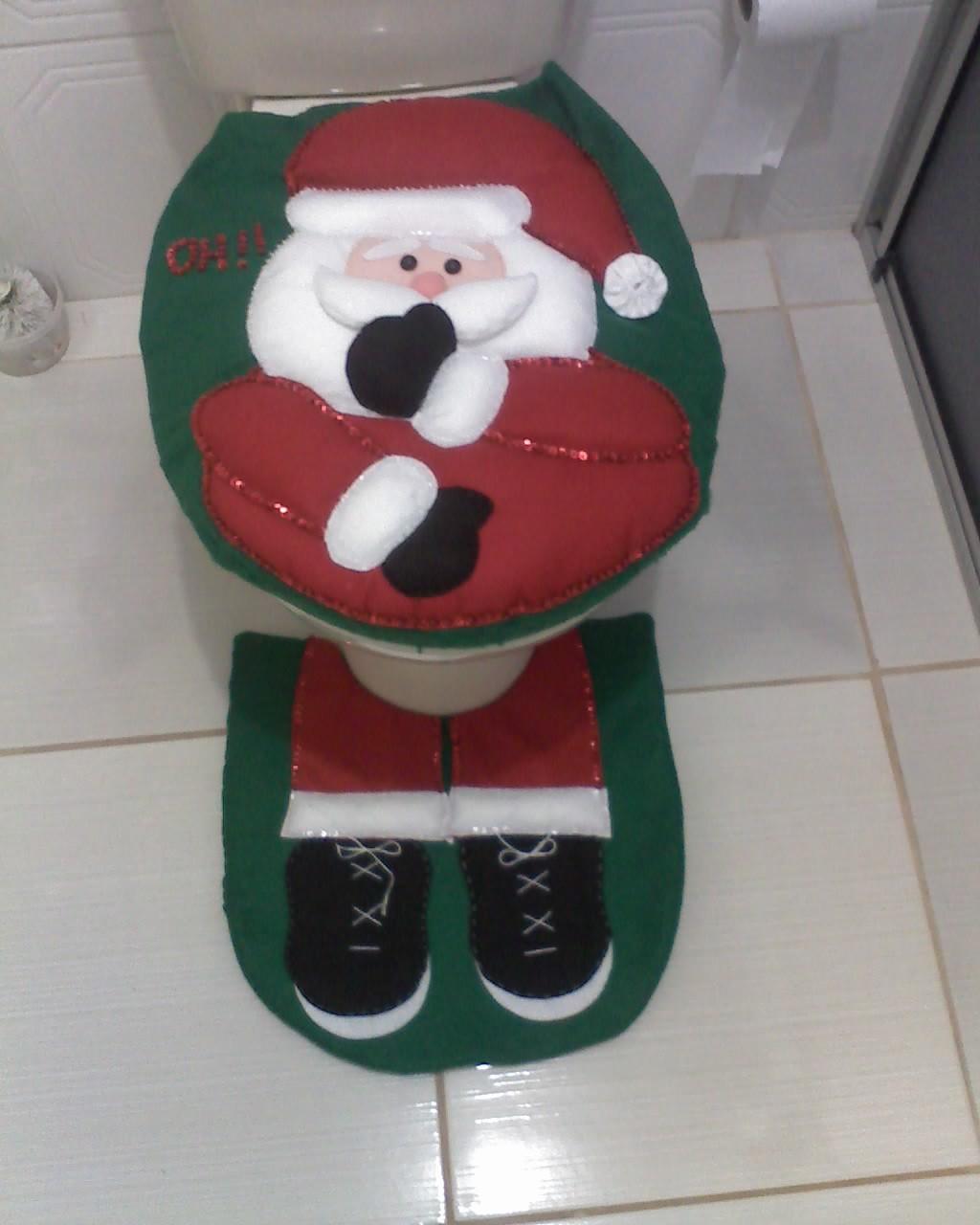 decoracao no banheiro : decoracao no banheiro:Natal Jogo De Banheiro