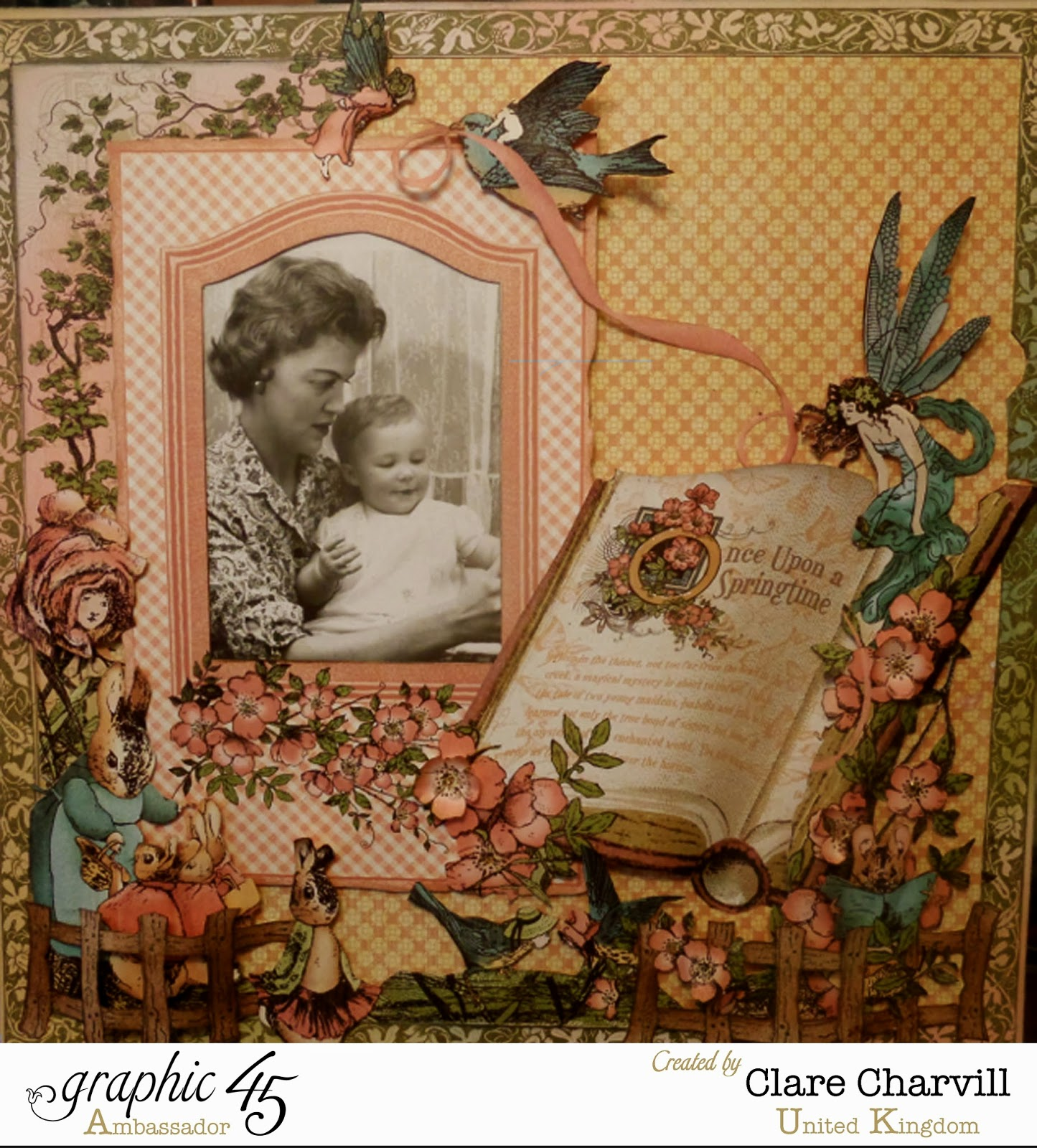 Once Upon a Springtime Layout by Clare Charvill Graphic 45