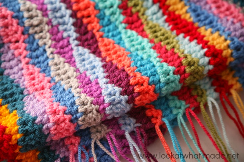 free crochet pattern lazy waves blanket
