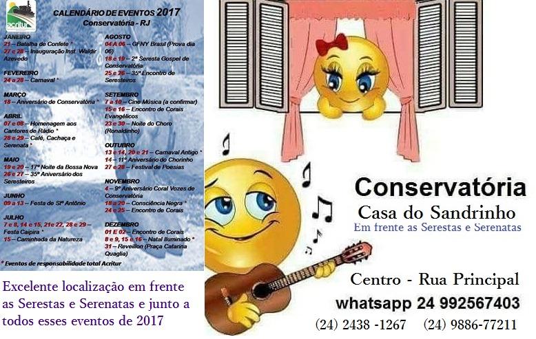 Conservatória Calendário 2017