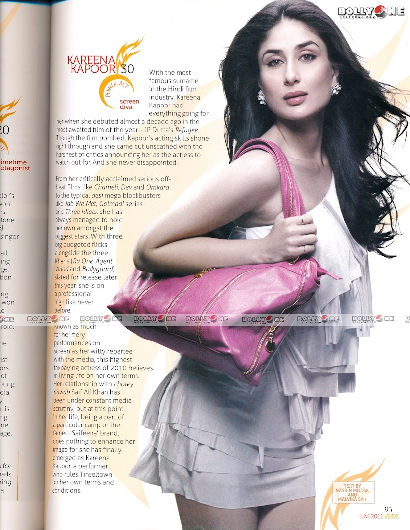Kareena Kapoor Hot VERVE Magazine June 2011  Scan