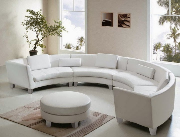 Sofa lengkung minimalis