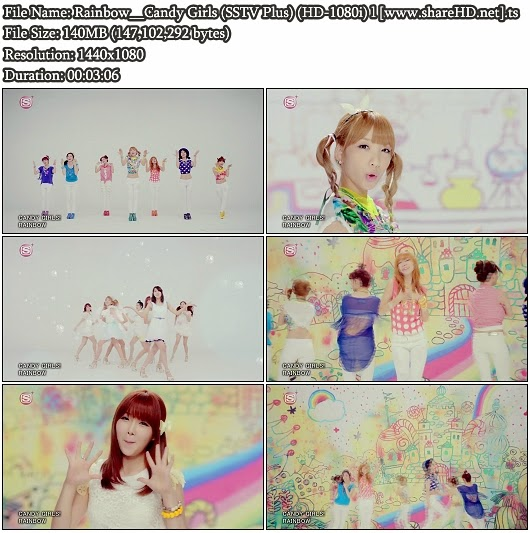 Download PV Rainbow - Candy Girls (Full SSTV Plus 1080i)