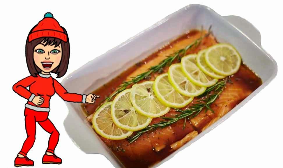 Receta del salmón con limón, soja y ajos.