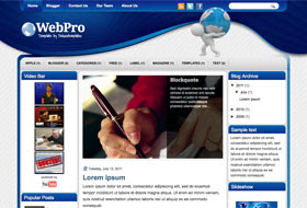 WebPro Blogger Template