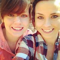My sister Amanda and me