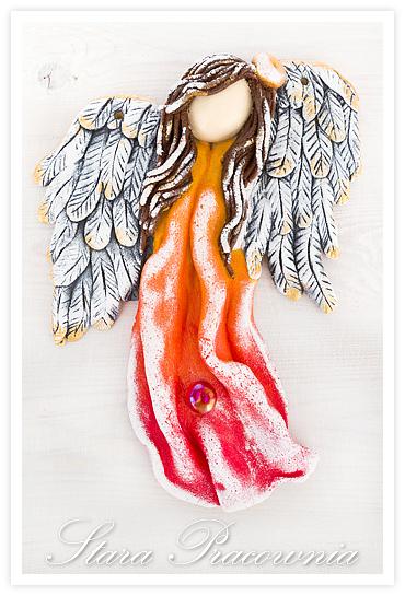ozdoby z masy solnej, salt dough angel, anioł z masy solnej, anioły z masy solnej