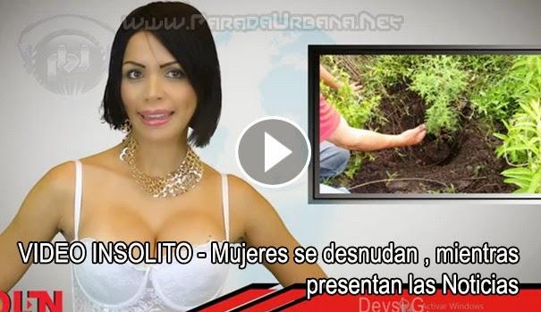VIDEO INSOLITO - Presentadoras de Noticias, se desnunda, durante el Noticiero