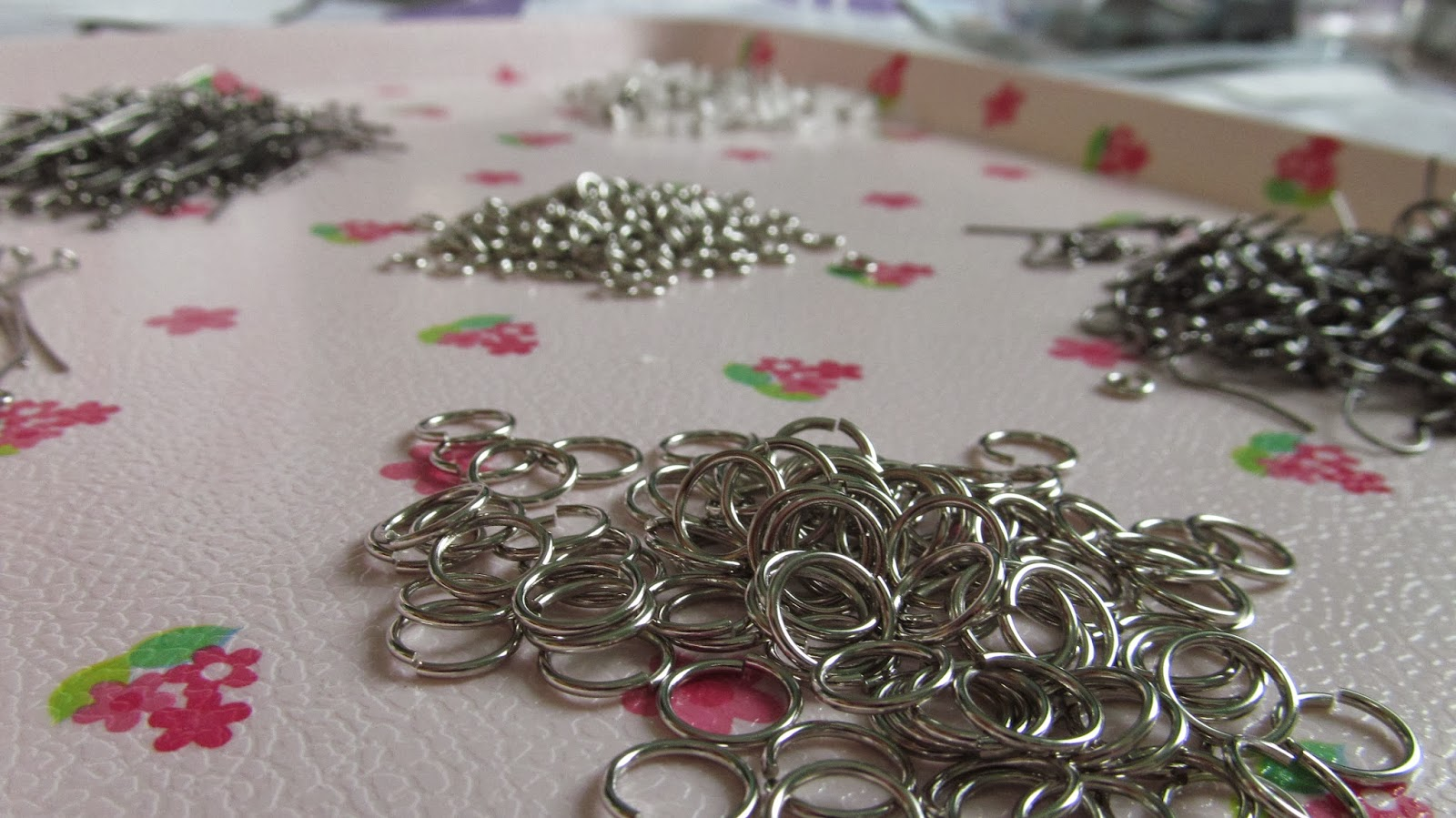 Lara Novales jump rings eye pins and other jewelry making supplies