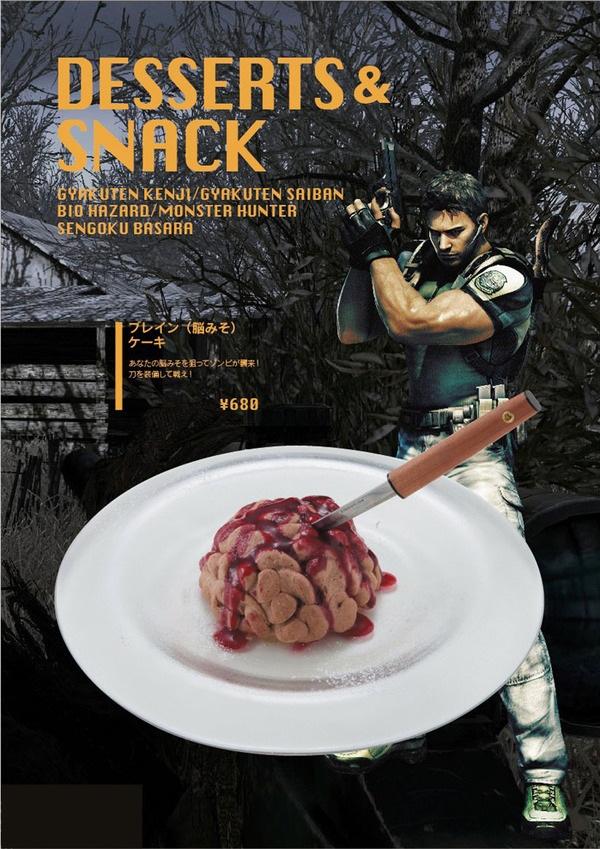 Restaurante temático de videojuegos servirá deliciosas tortas de cerebro en Japón