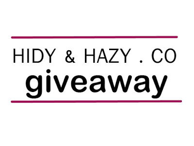 HIDY & HAZY.CO GIVEAWAY | 29 MAY 2015 sehingga 15 JUN 2015