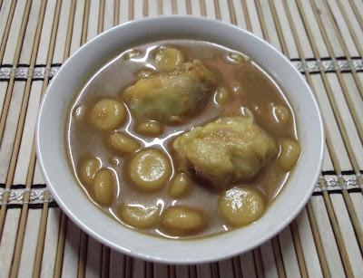 Bubur Puteri Mandi Durian atau Wadai Kepeng Durian