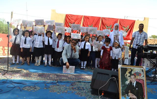 نادي الفنون الجميلة لوحدة أكادير الطلبة ب م/م التعاونيات نيابة تارودانت في حفل للتميز والتكريم