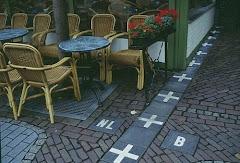 Frontière entre la Belgique et les Netherlands.