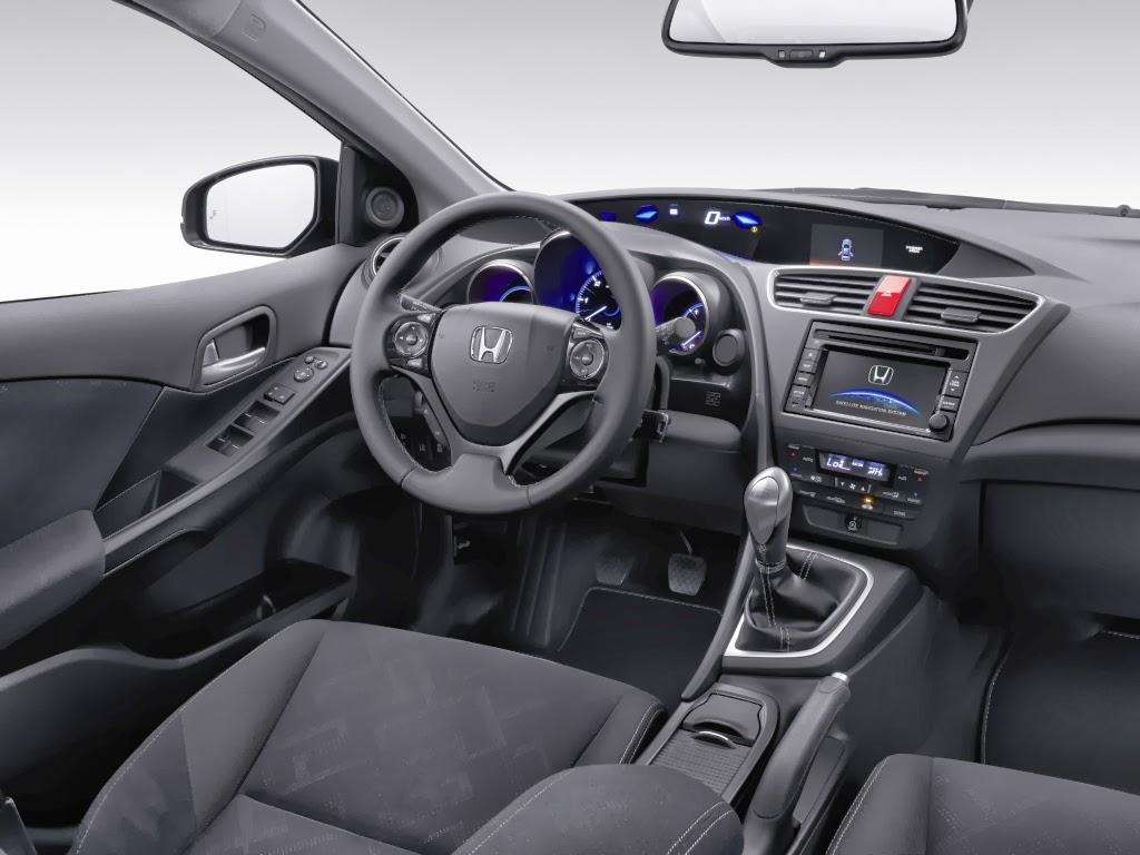 cockpit autom vel conte dos auto apresenta o honda civic tourer my 2014. Black Bedroom Furniture Sets. Home Design Ideas