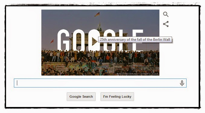 FALL OF BERLIN WALL DI GOOGLE HARI INI!