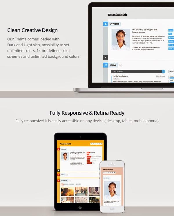 vcard responsive resume theme new themes
