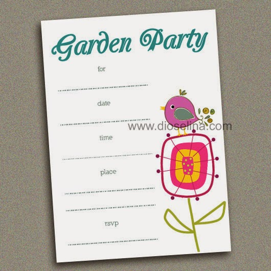 Garden Party Fill in the Blank Invitations