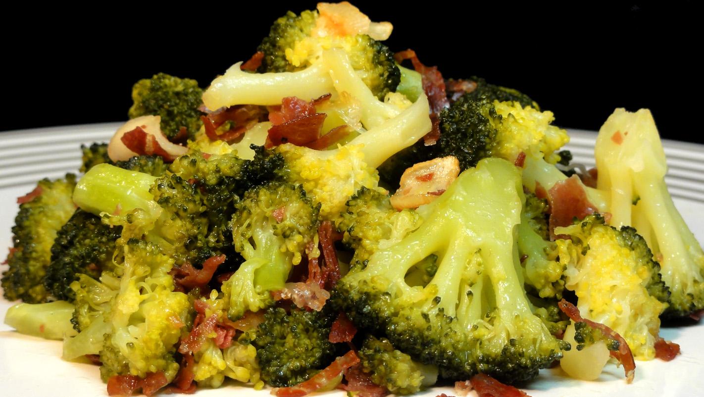 Cocinar El Brocoli | Cocinar Para Los Amigos Brocoli Con Refrito De Ajos Y Jamon