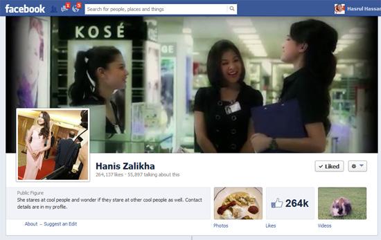 Facebook Fanpage Hanis Zalikha