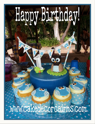 Owl themed Birthday Cake Photo Tutorial Cake Decorating Cairns
