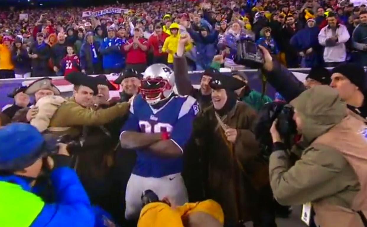 Touchdown New England Patriots finales conferencia
