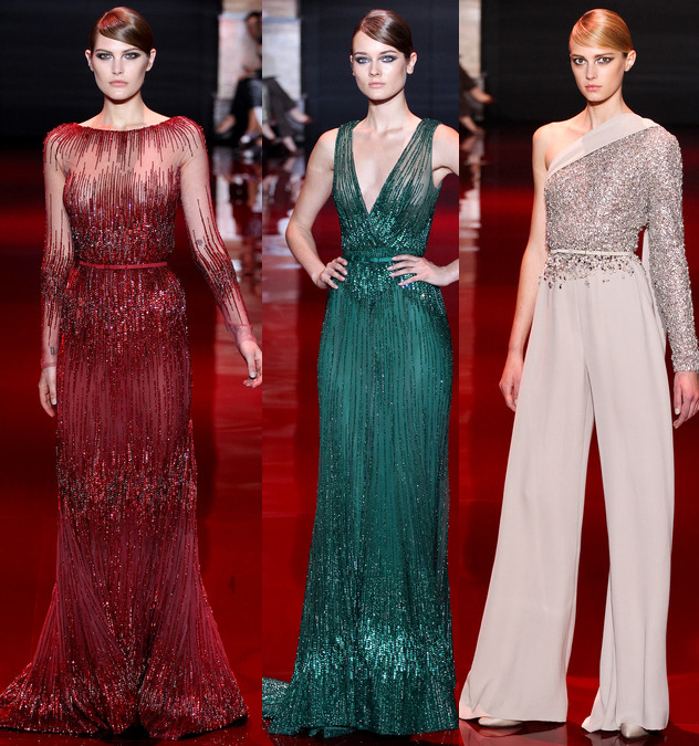 elie saab fall 2013 couture collection embroidered dresses