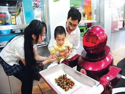 Restoran Robot di Harbin, China