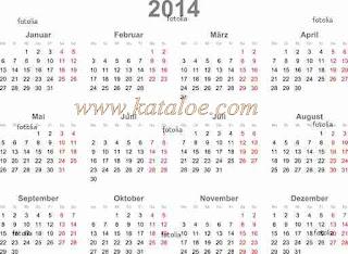 contoh kalender 2014