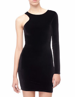 siyah asimetrik kesim elbise, dar elbise, 2014 elbise modelleri
