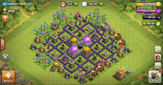 Farming Base Clash of Clans TH 7