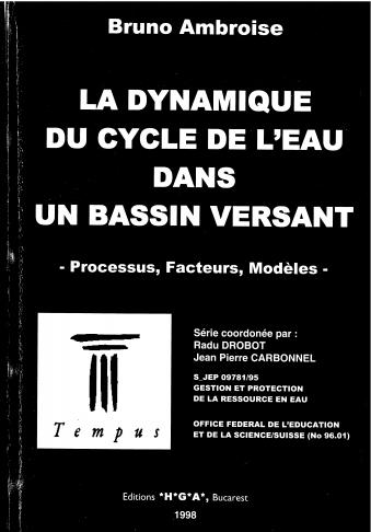 Livre : La dynamique du cycle de l'eau dans un bassin versant - processus, facteurs, modèles