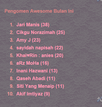 pengomen tegar, blogger awesome