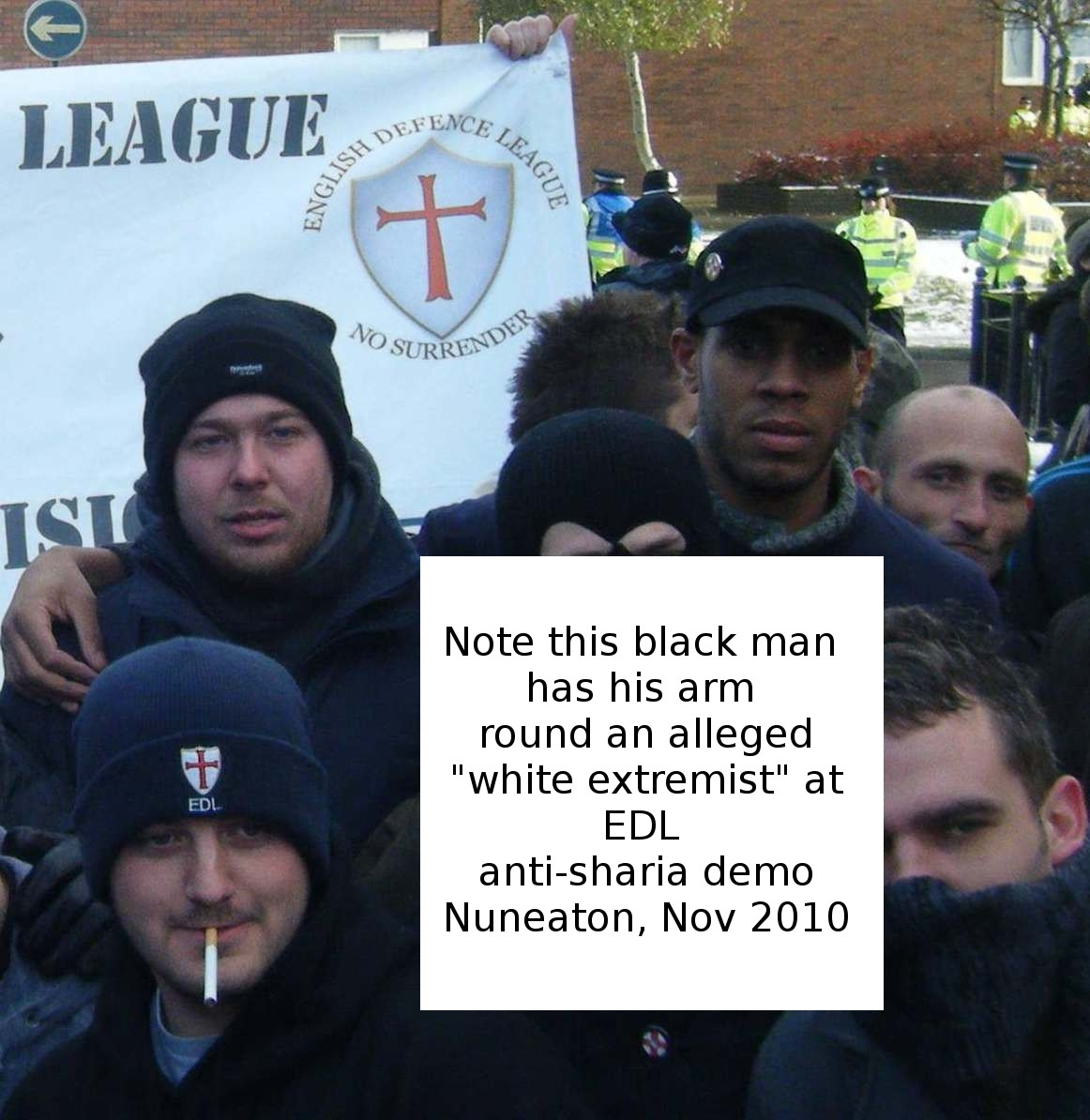 racist EDL with sex reassignment