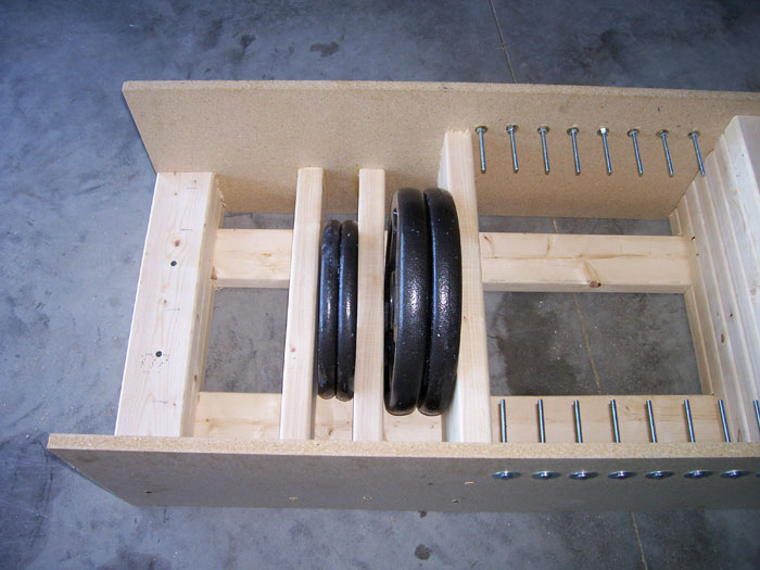 Homemade Strength: Weight Storage Rack