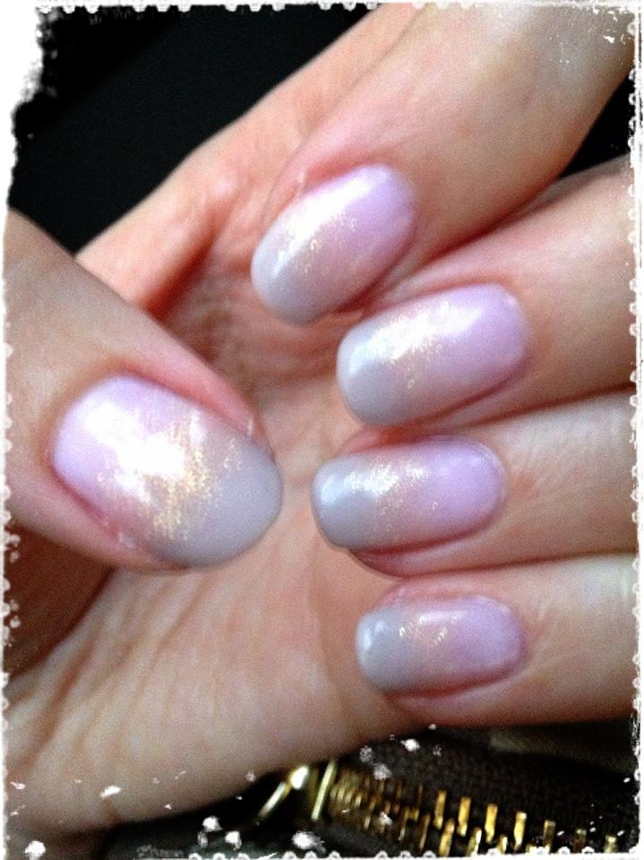 xoxotanja: Nail Art - Ombre Nails with a touch of sparkle using ...