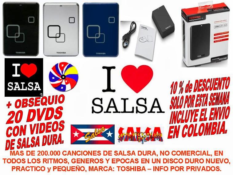 DISCO DURO DE 1 TB (MIL GIGAS) LLENO DE SALSA DURA PARA LA VENTA/FOR SALE