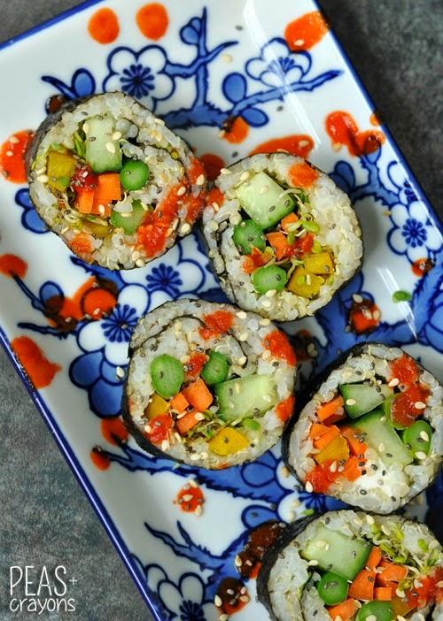 rice sushi rice healthy brown rice vegetarian sushi rolls rolls sushi ...