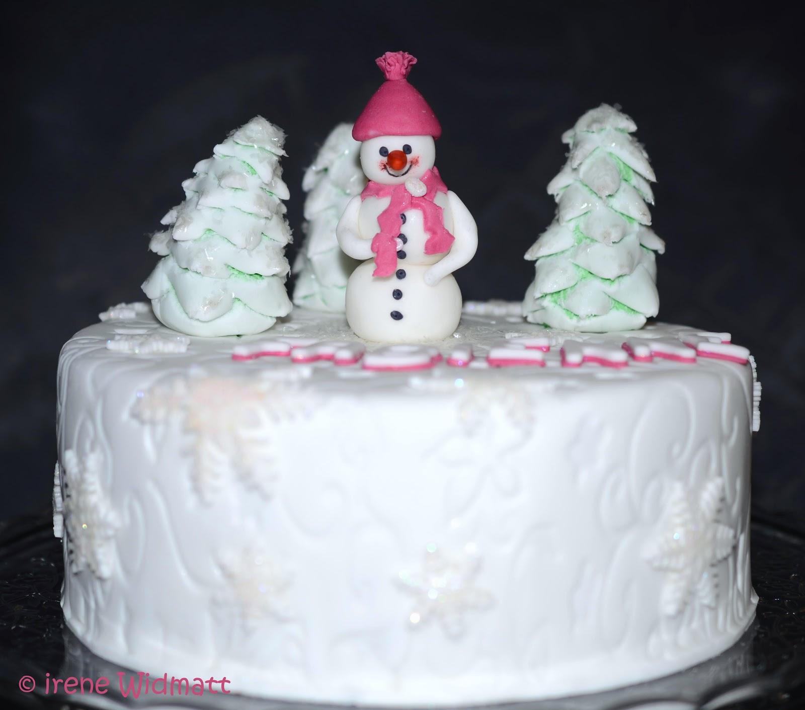 Winter Schneetorte Zum Geburtstag Meiner Grossen Widmatt