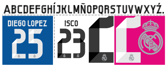 Font Real Madrid 2014/15 kits